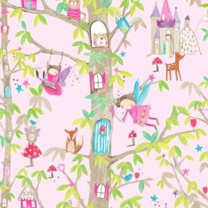 Arthouse Tapet - Woodland Fairies Woodland Fairies Pink