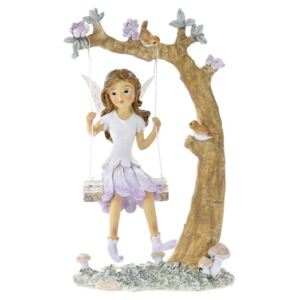 Figurina Fairy on swing din rasina 13 cm x 20 cm