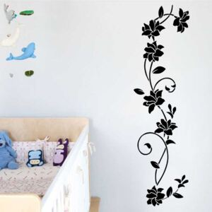 Sticker perete Black Flower Decor 9