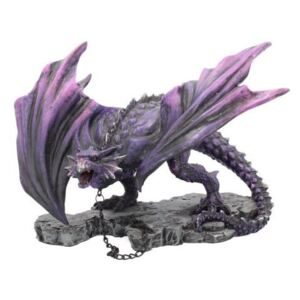 Statueta dragon inlantuit Azar 22 cm
