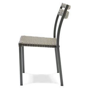Scaun gradina Ethimo Infinity Stacking Dining Warm Grey