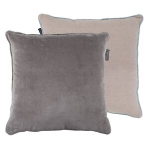 Perna decorativa patrata gri din bumbac 50x50 cm Faye LifeStyle Home Collection