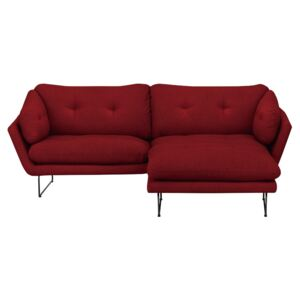 Set canapea cu taburet Windsor & Co Sofas Comet, roşu