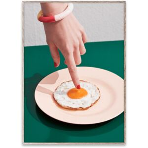 Poster cu rama stejar Fried Egg Paper Collective