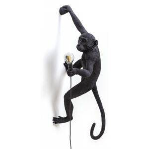 Lampa perete neagra 37×20,5cm The Monkey Right Sel