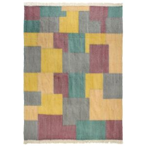 Covor kilim țesut manual, multicolor, 200 x 290 cm, bumbac