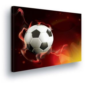 GLIX Tablou - Soccer Ball in Fire Colors 100x75 cm
