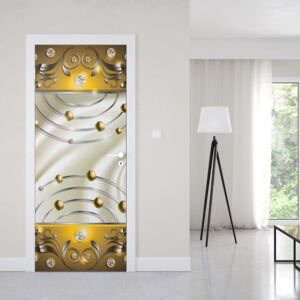 GLIX Tapet netesute pe usă - Abstract Modern Design Yellow