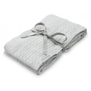 Muselina gri din bumbac Swaddle Light Grey Wave Medium Cam Cam