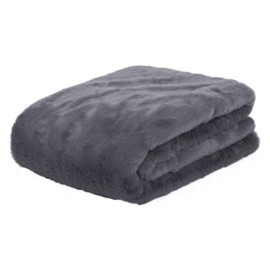 Pled gri din poliester 140x180 cm Lyall Fur LifeStyle Home Collection