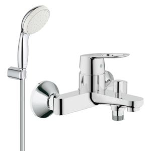 Pachet: Baterie baie cada Grohe Bauloop-23341000+Set dus Grohe New Tempesta 100 lungime 1,25m-27799001-Gro241
