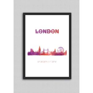 Tablou North Carolina Scandinavian Home Decors London V3, 33 x 43 cm