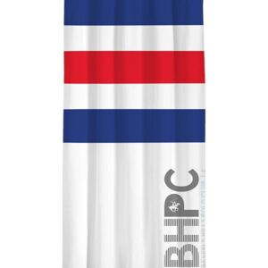 Draperie Beverly Hills Polo Club White Dark Blue Red, 100% poliester, alb, albastru inchis, rosu, 140x260 cm