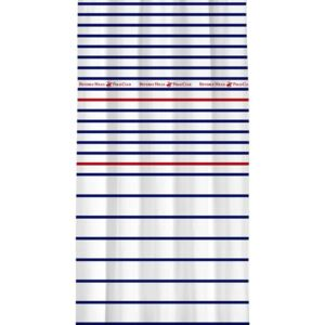 Draperie Beverly Hills Polo Club White Blue Red, 100% poliester, alb, albastru, rosu, 140x260 cm
