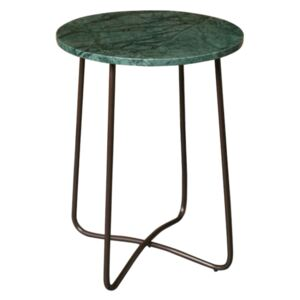 Masuta de cafea cu marmura verde Emerald Side Table