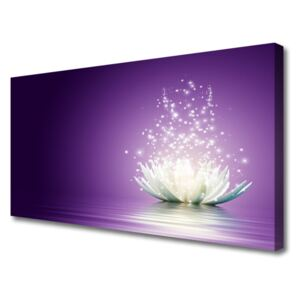 Tablou pe panza canvas Lotus Floral violet