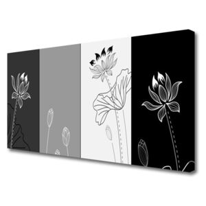 Tablou pe panza canvas Abstract Art Gri Alb Negru