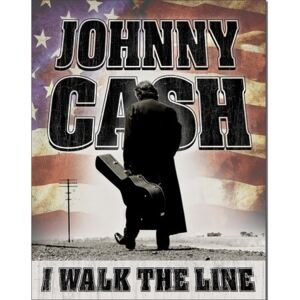 Johnny Cash - Walk the Line Placă metalică, (32 x 41 cm)