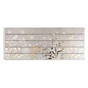 Tablou din lemn Graham & Brown Metallix Wood Meadow, 100 x 40 cm