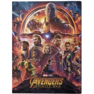 Avengers: Infinity War - One Sheet Tablou Canvas, (60 x 80 cm)