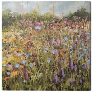 Anne-Marie Butlin - Summer Field with Scabious Tablou Canvas, (60 x 60 cm)