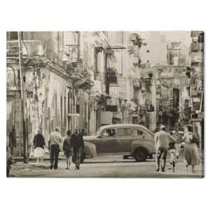 Tablou Canvas Lee Frost - Havana Street, Cuba, (80 x 60 cm)