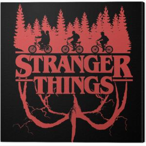 Tablou Canvas Stranger Things - Logo Flip, (40 x 40 cm)