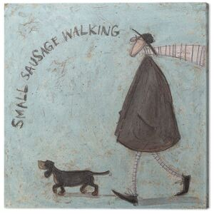 Sam Toft - Small Sausage Walking Tablou Canvas, (30 x 30 cm)