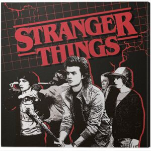 Stranger Things - Action Ready Tablou Canvas, (40 x 40 cm)
