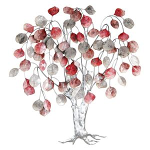 Decoratiune de perete LOVE TREE, metal, 80x10x72 cm