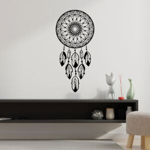 Sticker Autocolant Decorativ Perete Dreamcatcher, 47x22 cm, Negru, Oracal