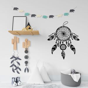 Sticker Autocolant Decorativ Perete Dreamcatcher, 47x40 cm, Negru, Oracal