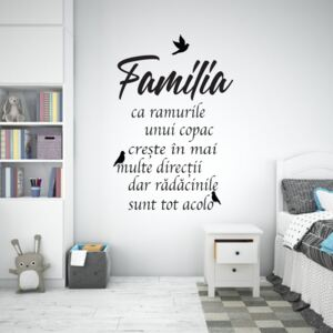 Sticker Autocolant Decorativ Familie, 70x45 cm, Negru, Oracal