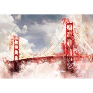 C12920VEL Fototapet vlies: Golden Gate Bridge (pictata) - 104x152,5 cm