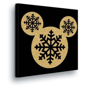 GLIX Tablou - Christmas Disney Mickey Mouse II 80x80 cm