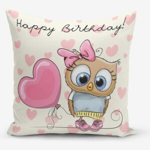 Față de pernă Minimalist Cushion Covers Happy Birthday, 45 x 45 cm