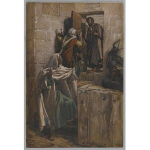 The First Denial of Saint Peter, illustration from 'The Life of Our Lord Jesus Christ', 1886-94 Reproducere, James Jacques Joseph Tissot
