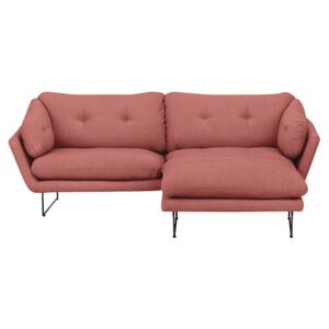 Set canapea cu taburet Windsor & Co Sofas Comet, roz