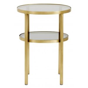 Masuta ovala Side Table Golden 35x40cm