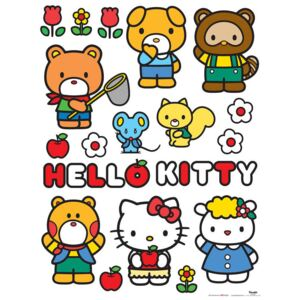 AG Design Hello Kitty - autocolant de perete 65x85 cm
