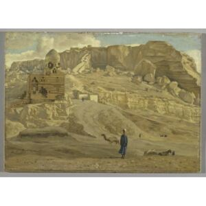 The Mokattam from the Citadel of Cairo, illustration from 'The Life of Our Lord Jesus Christ' Reproducere, James Jacques Joseph Tissot