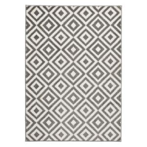 Covor Think Rugs Matrix, 120 x 170 cm, gri - alb