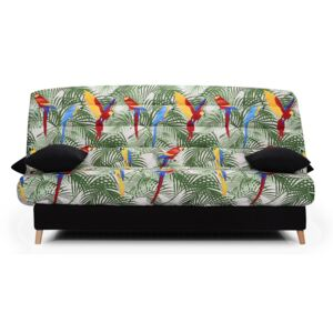 Canapea extensibila Click Clack The Sofa Scandi Jungle Petite, lada depozitare, 183/82/88 cm