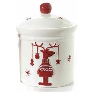 Borcan decorativ Reindeer White