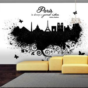 Fototapet Bimago - Paris is always a good idea + Adeziv gratuit 100x70 cm