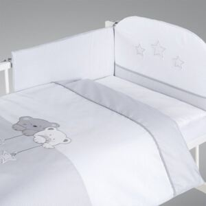 Klups set lenjerie patut 2 piese - Sweet Dream grey