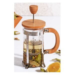 French press cu capac din bambus Bisous, 350 ml
