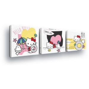 GLIX Tablou - Hello Kitty Trio 3 x 25x25 cm