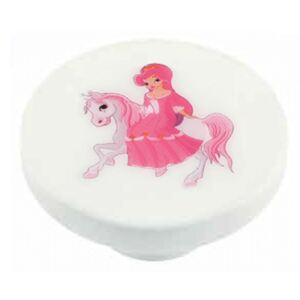Buton rotund Sedef, model Princess, plastic, 40 mm