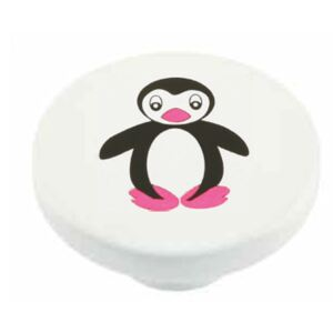 Buton rotund Sedef, model Penguin, plastic, 40 mm